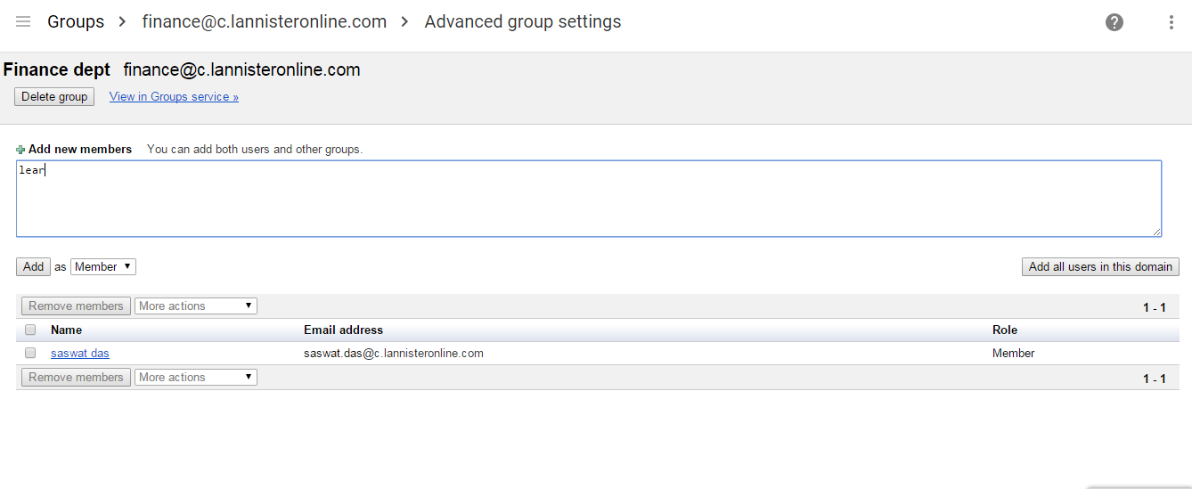 Add users in group