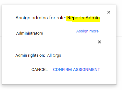 Assign new created admin role