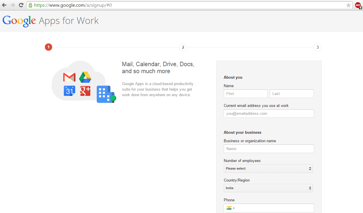 Register in Google apps for Work - The Learning Hub