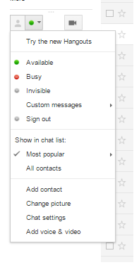Gtalk settings