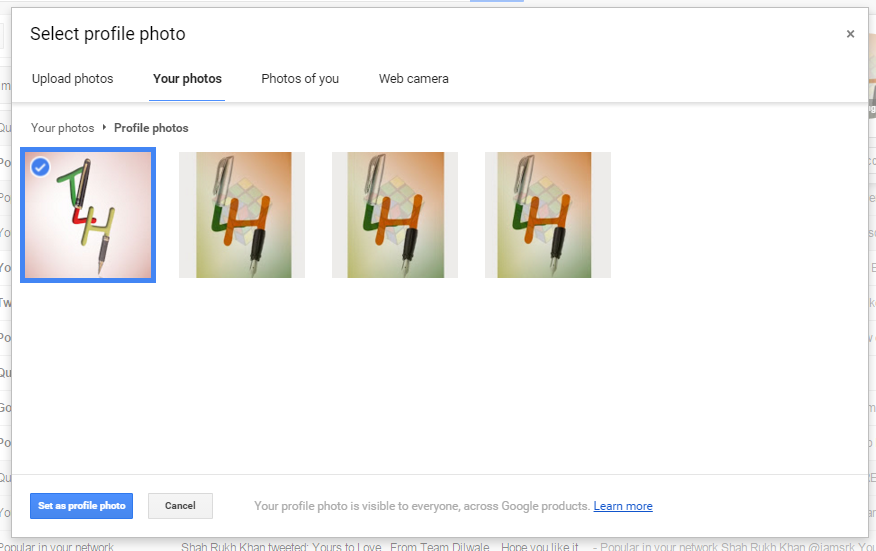 set profile pic in gmail