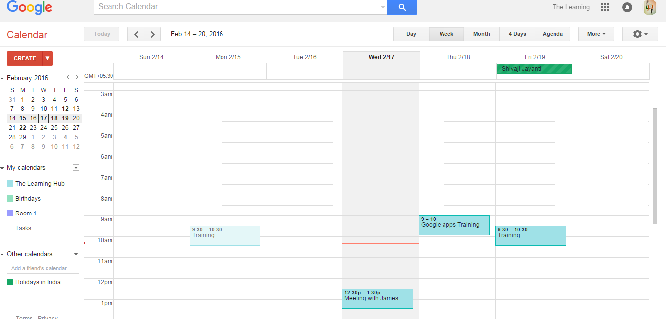 Double Booking on Calendar Resource  - The Learning Hub