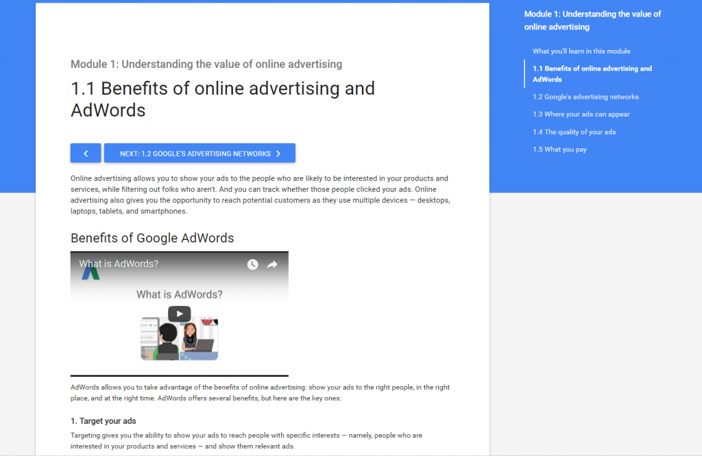 Adwords videos and material