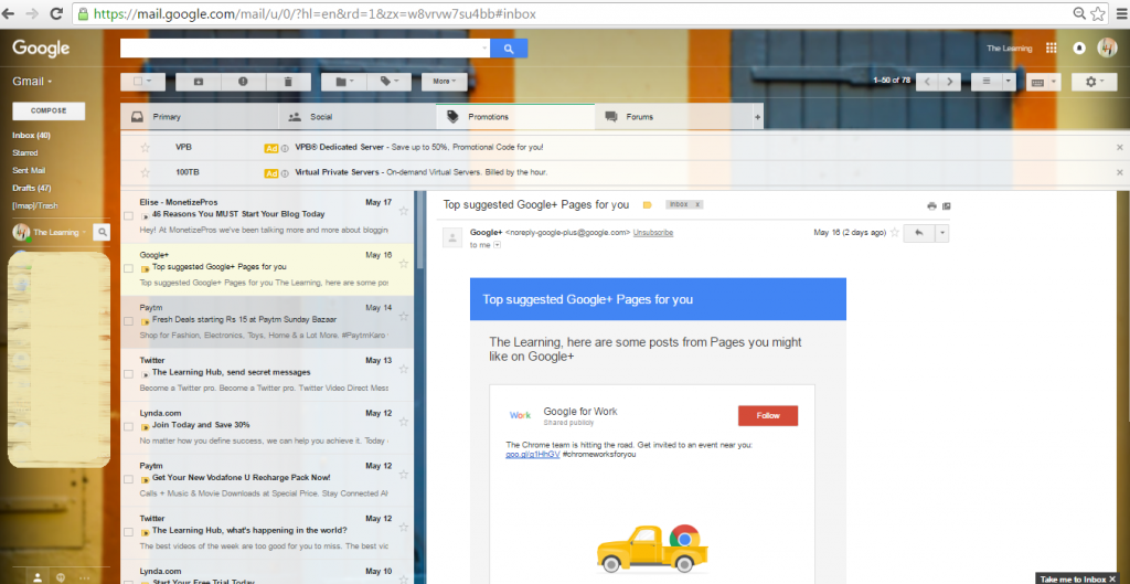 Preview pane- Gmail labs
