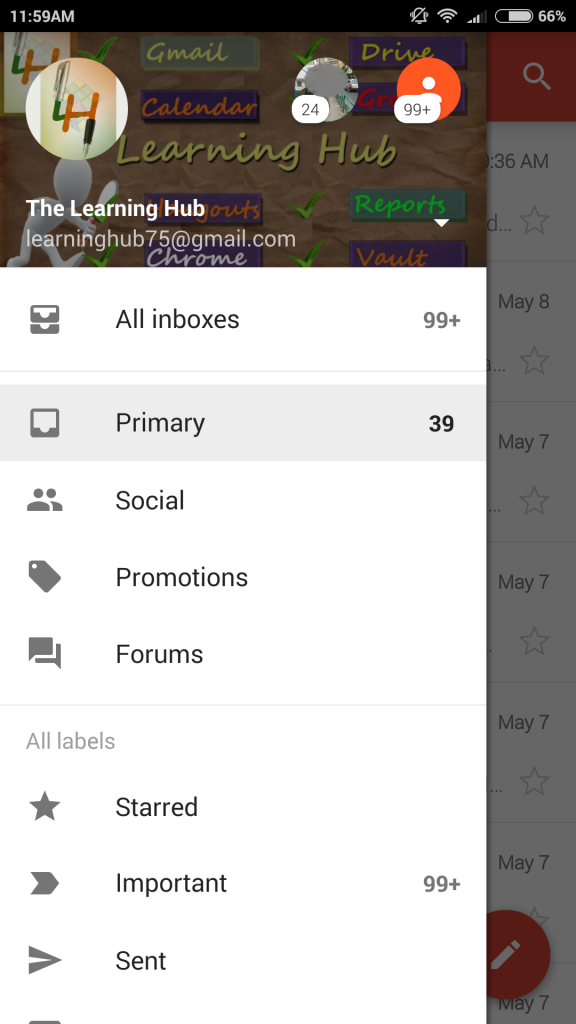 gmail profile on android