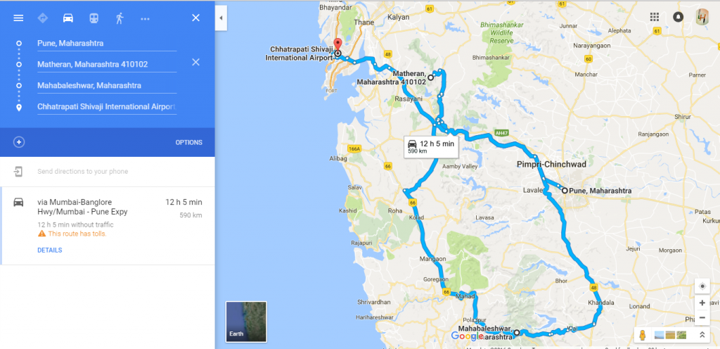 Directions for multiple locations in google map