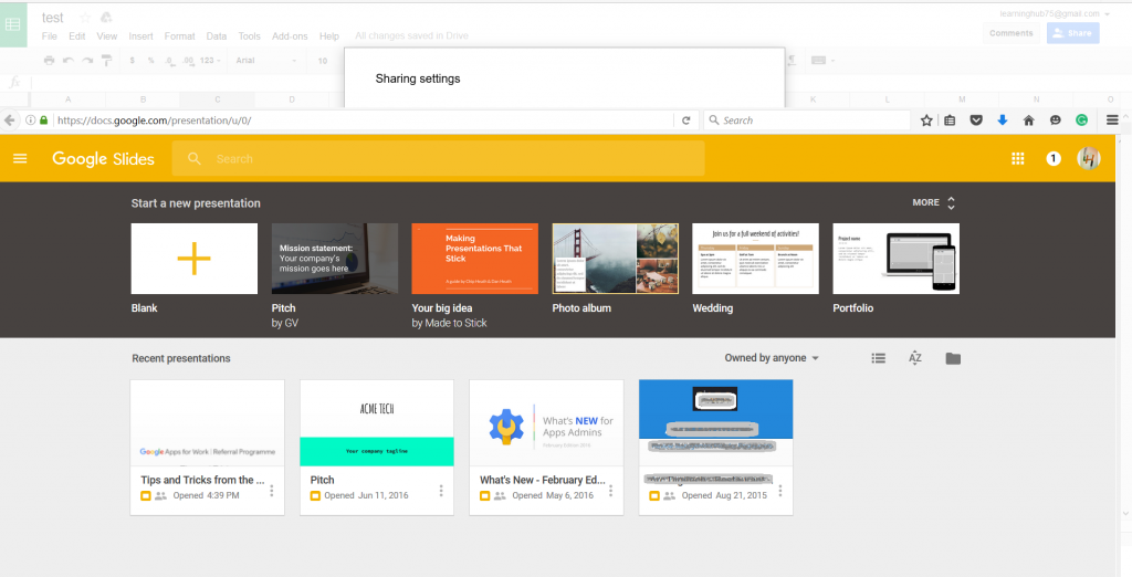 google-slides-home-page