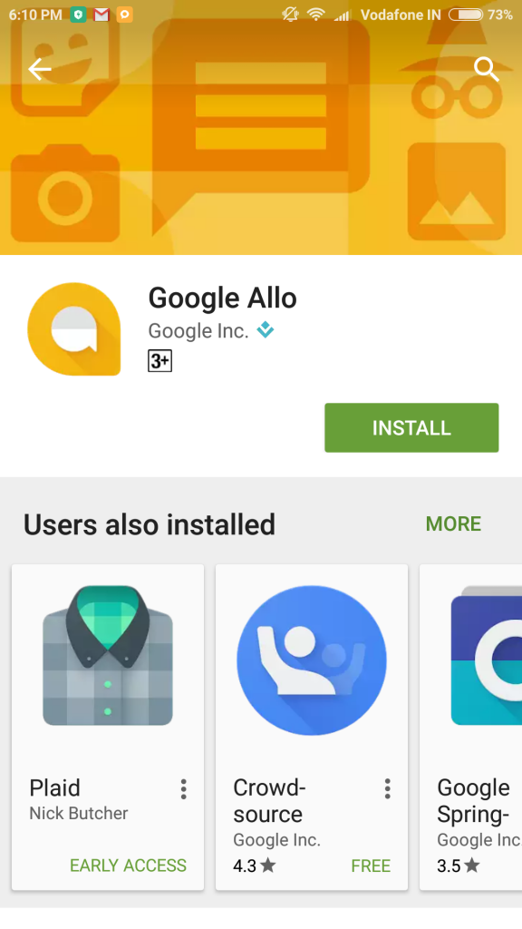 google allo in google play store
