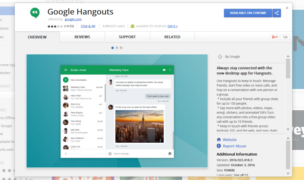 Hangout as a Chrome Extension - The Learning Hub